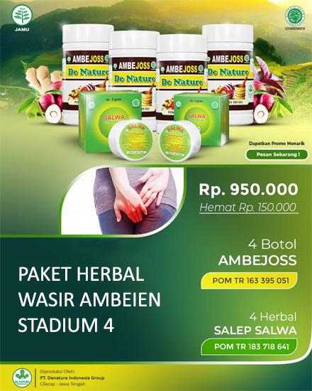 Paket Herbal Wasir Ambeien Stadium 4