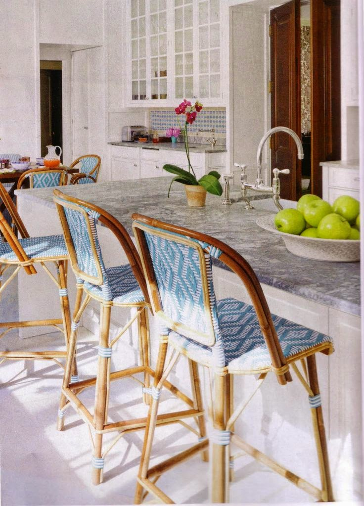 French Cafe Kitchen Decor Ideas: Boston Baby Mama: Our Humble Abode: Kitchen Counter Stools