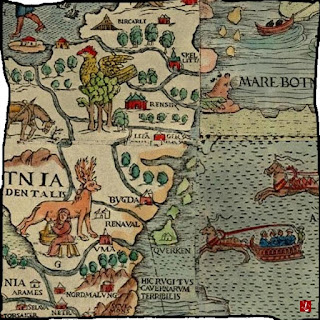 Landkarte, skurril, Fantasy, Inseln, Literatur, hören, Audio, Fabelwesen, mp3