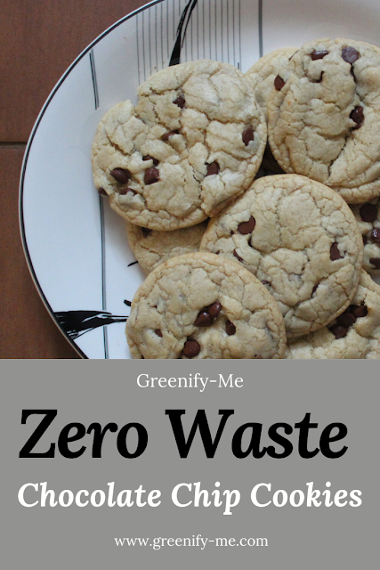 Zero Waste Chocolate Chip Cookies