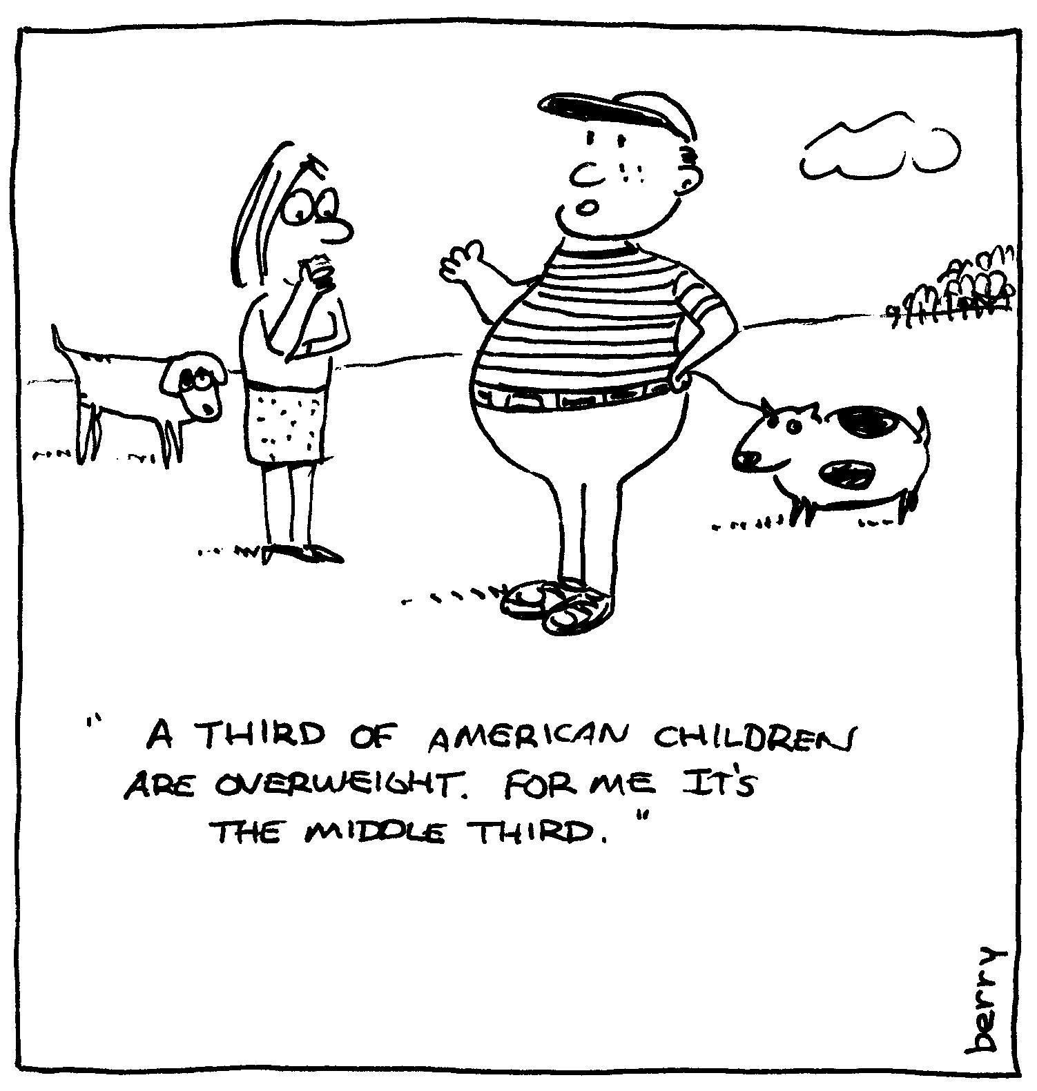 berry cartoons: childhood obesity cartoon
