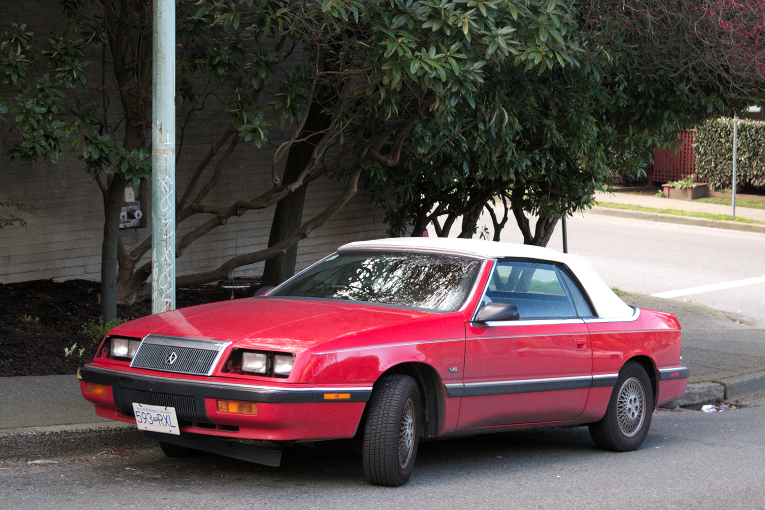 Old Parked Cars Vancouver: 1990 Chrysler LeBaron Convertible