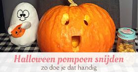 Halloween pompoen snijden - zo doe je dat handig facebook afbeelding
