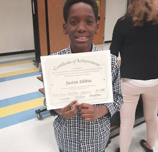 PHOTOS: 2Baba's son, Justin Idibia, bags award for academic success in the United States