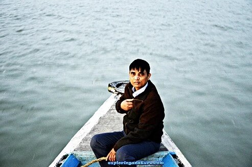 Boating on Brahmaputra river around Umananda Island