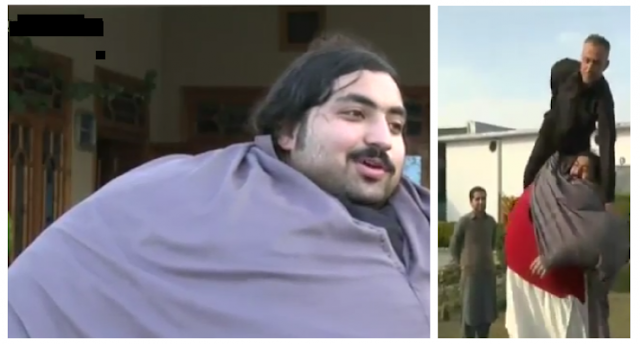 فيديو.. 'خان بابا' يأكل 4 دجاجات و36 بيضة يوميًا لن تصدق كم يبلغ وزنه الآن