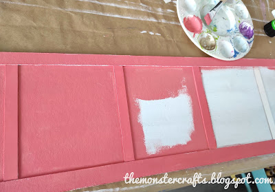 Painting the wainscot with coral blush