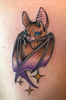 cute bat tattoo