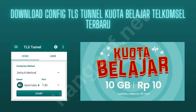 download config tls tunnel kuota belajar telkomsel terbaru