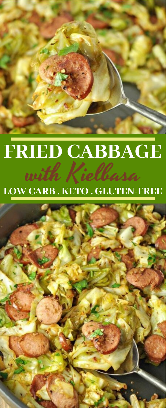 Fried Cabbage with Kielbasa – Low Carb, Gluten Free #healthy #lowcarb #keto #dinner #glutenfree