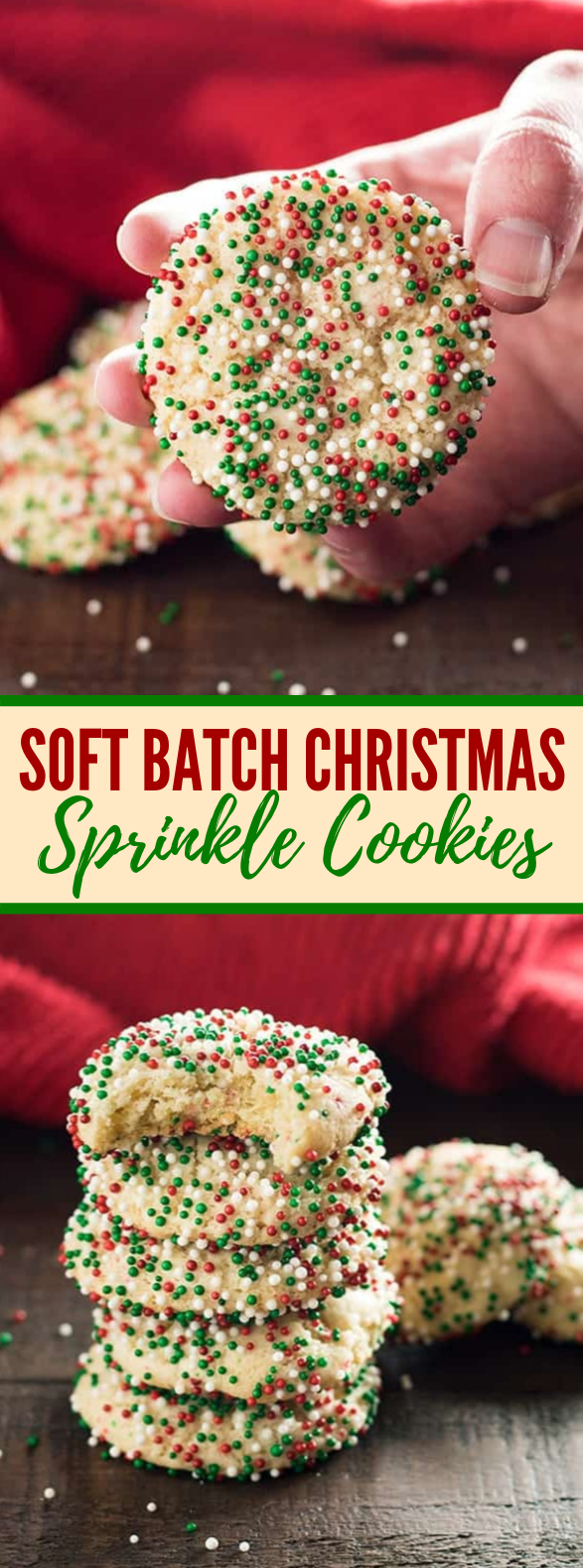 SOFT BATCH CHRISTMAS SPRINKLE COOKIES #desserts #recipes