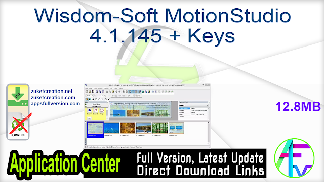 Wisdom-Soft MotionStudio 4.1.145 + Keys