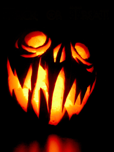 scary jack o lantern face template - horror illustrated halloween pumpkin carvings