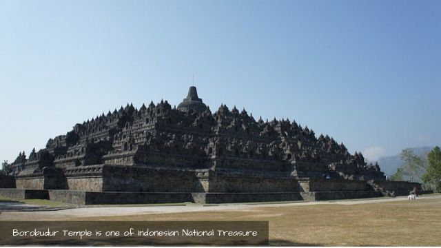 Borobudur temple as one of Indonesian National Treasure