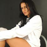 Andrea Rincon, Selena Spice Galeria 19: Buso Blanco y Jean Negro, Estilo Rapero Foto 106