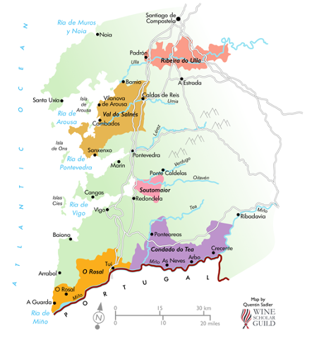 Wine region of Rias Baixas