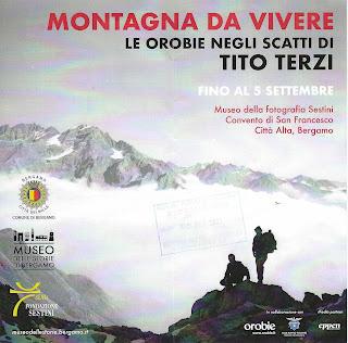 Tito Terzi Exhibit Flyer - Montagna da vivere