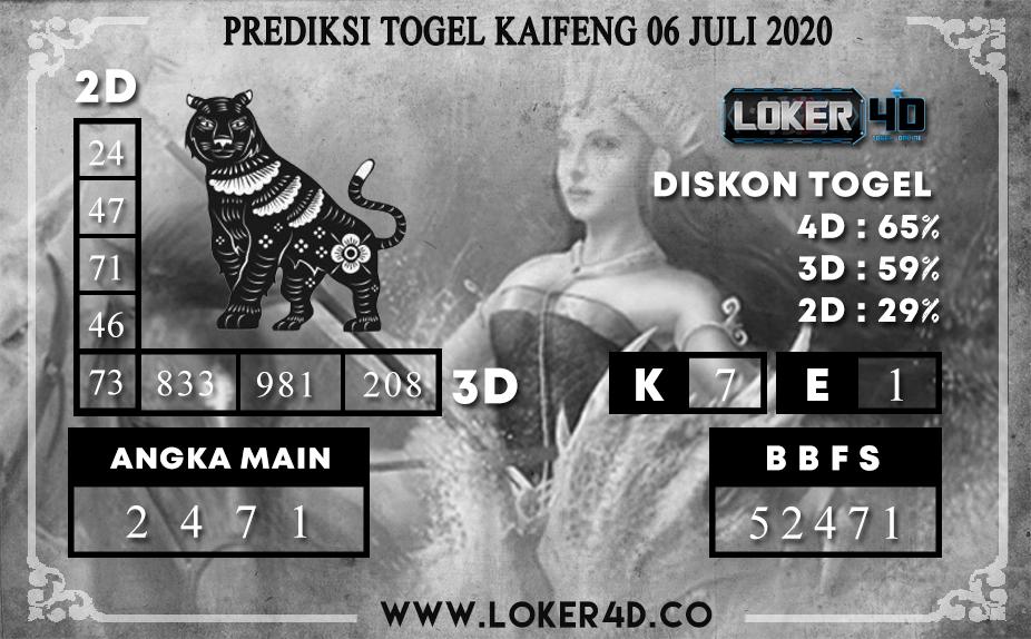 PREDIKSI TOGEL LOKER4D KAIFENG 06 JULI 2020