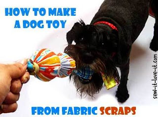Sewing Scraps Dog Toy