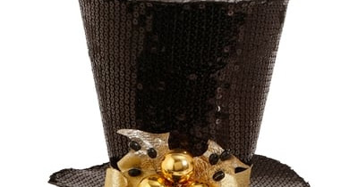 RAZ Black and Gold Top Hat