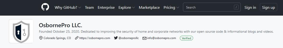GitHub OsbornePro LLC
