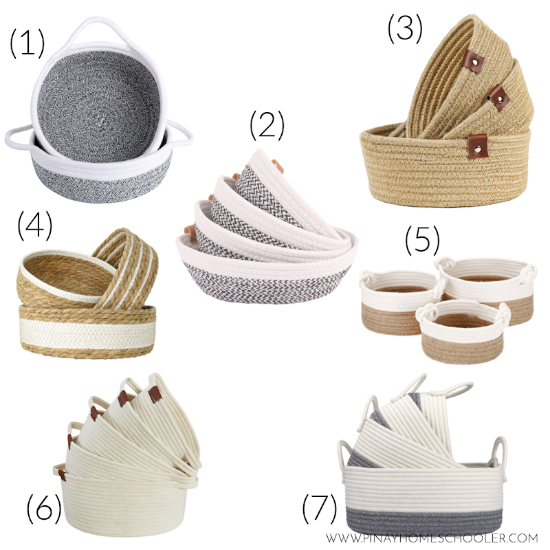 Montessori Friendly Storage Baskets Recommendations