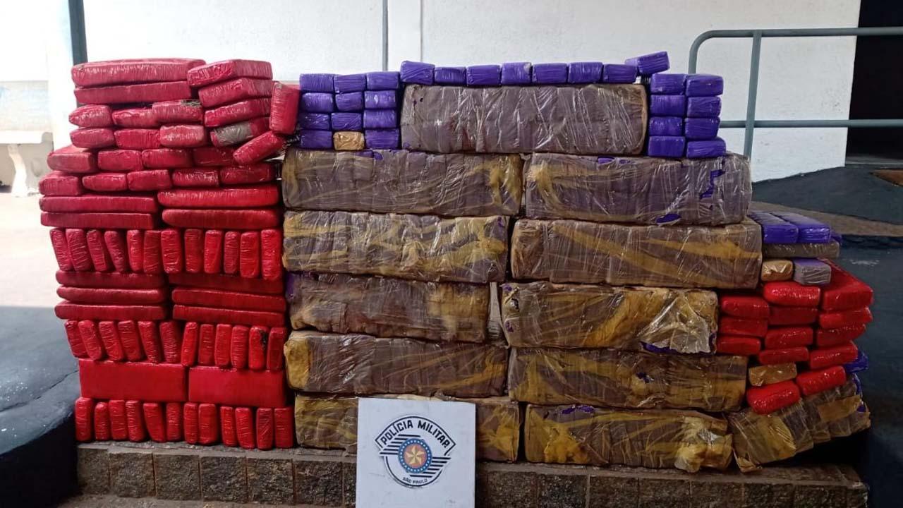 TOR apreende 250 quilos de maconha em rodoviária de Pardinho