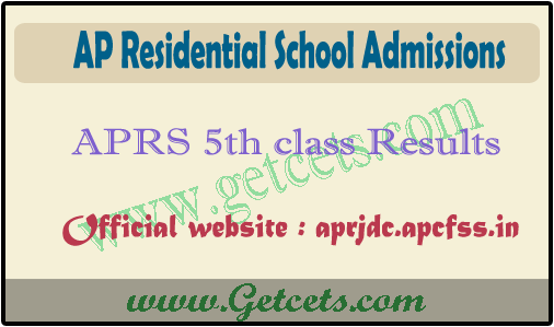 APRS 5th class entrance exam results 2021-2022 @aprjdc.apcfss.in