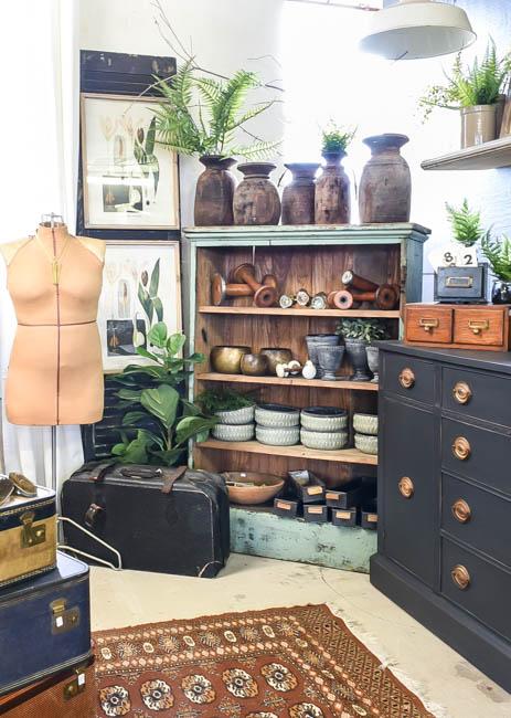 Styled chippy shelf