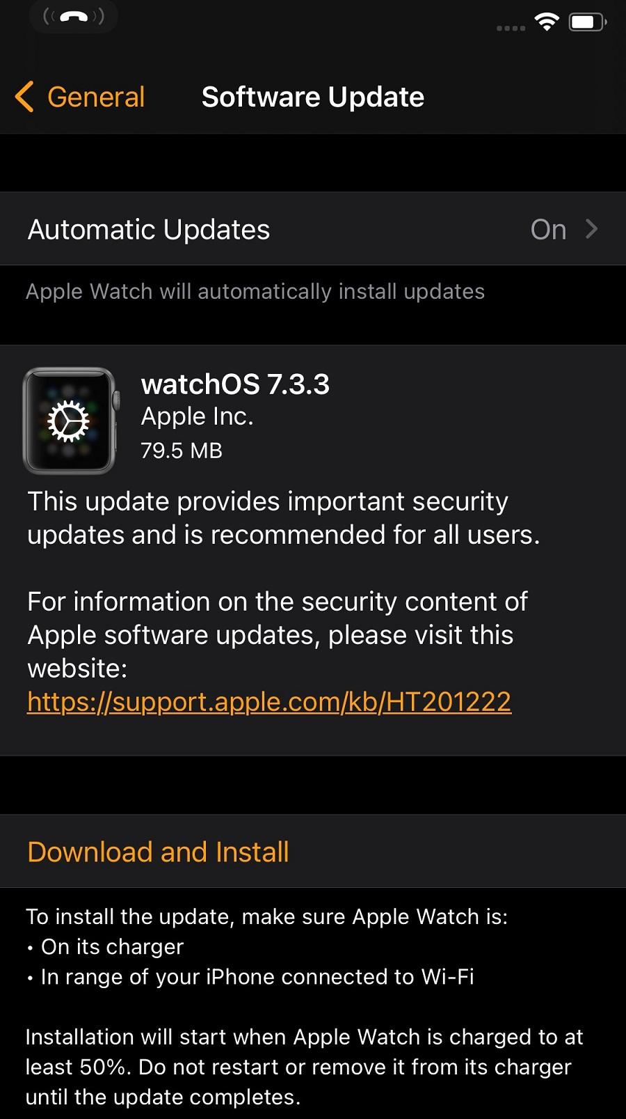 watchOS 7.3.3 Features