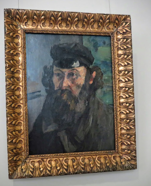 Self portrait of Cezanne at the Hermitage in St. Petersburg, Russia