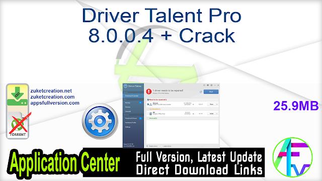 Driver Talent Pro 8.0.0.4 + Crack