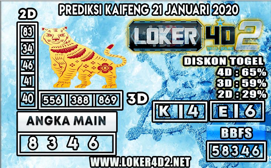 PREDIKSI TOGEL KAIFENG LOKER4D2 21 JANUARI 2020