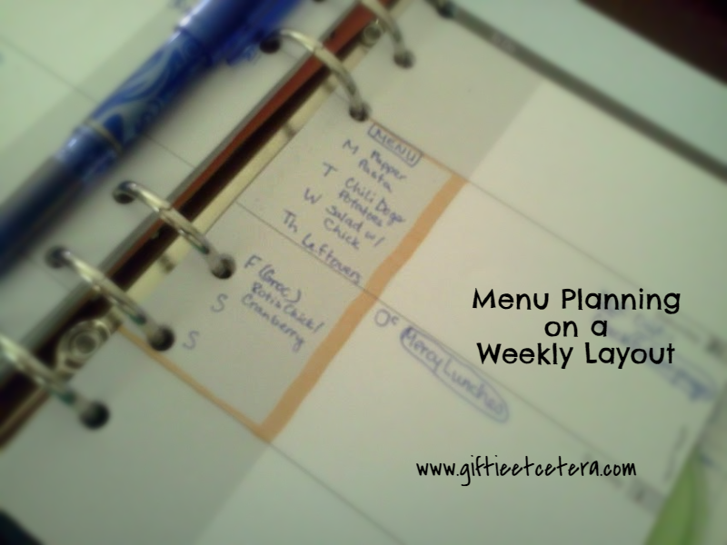 menu planning weekly layout day planner