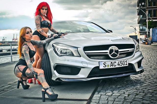 Mercedes Benz CLA45 AMG và hai người đẹp cá tính 01