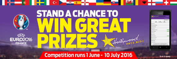 Hollywoodbets' Euro 2016 Mobile Promotion Banner
