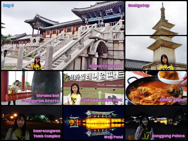 Gyeongju (Bulguksa Temple, Seokguram Grotto,   Donggung Palace, Woji / Anapji Pond and Daereungwon Tomb Complex).