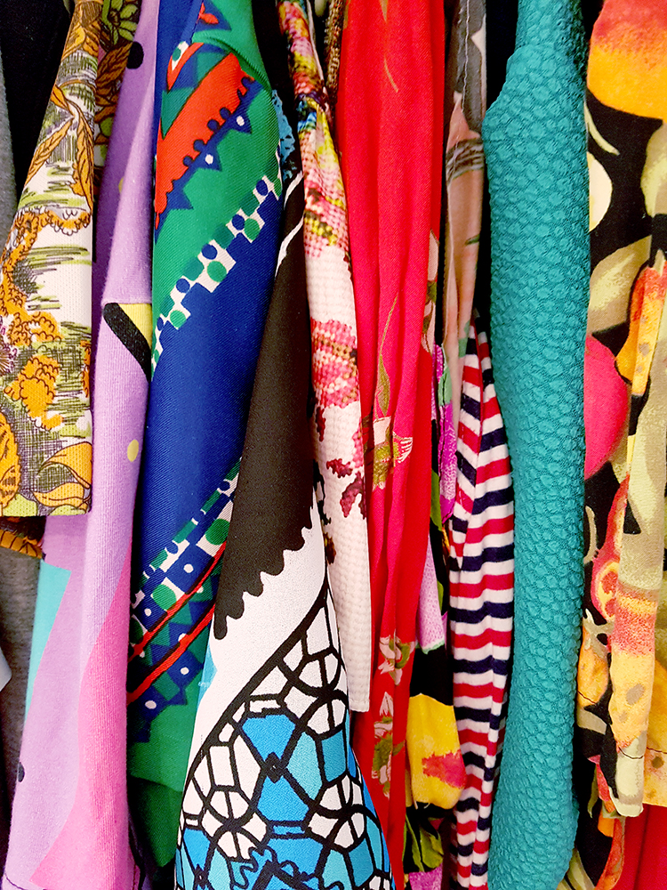 Colourful wardrobe