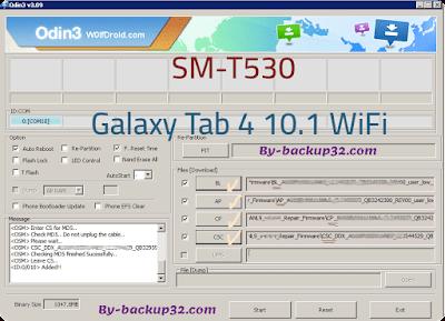 سوفت وير هاتف Galaxy Tab 4 10.1 WiFi موديل SM-T530 روم الاصلاح 4 ملفات تحميل مباشر