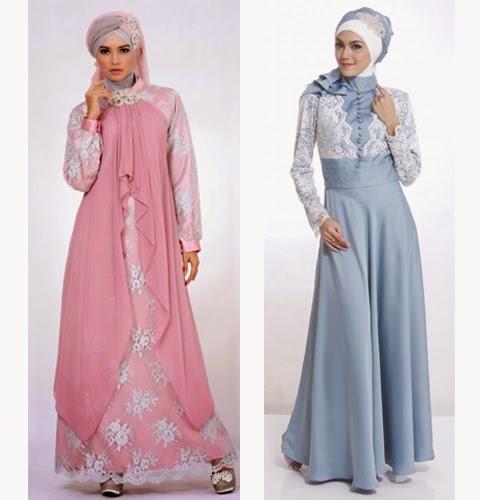 model baju muslimah brokat