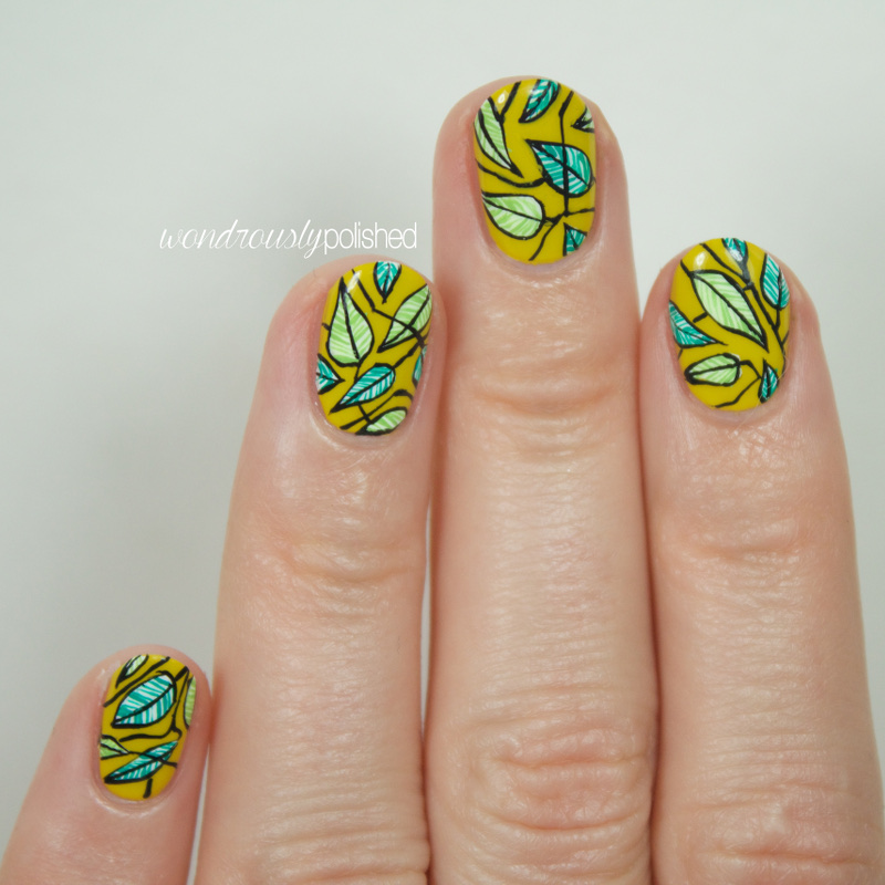 Simple Leaf Nail Art: Wondrously Polished: Intricate Leaves