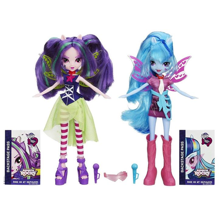 My Little Pony Equestria Girls Rainbow Rocks Sonata Dusk and Aria Blaze Doll 2-Pack