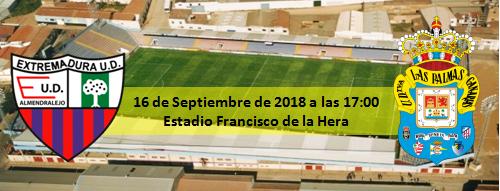Previa Extremadura UD - UD Las Palmas 16 Septiembre 17:00