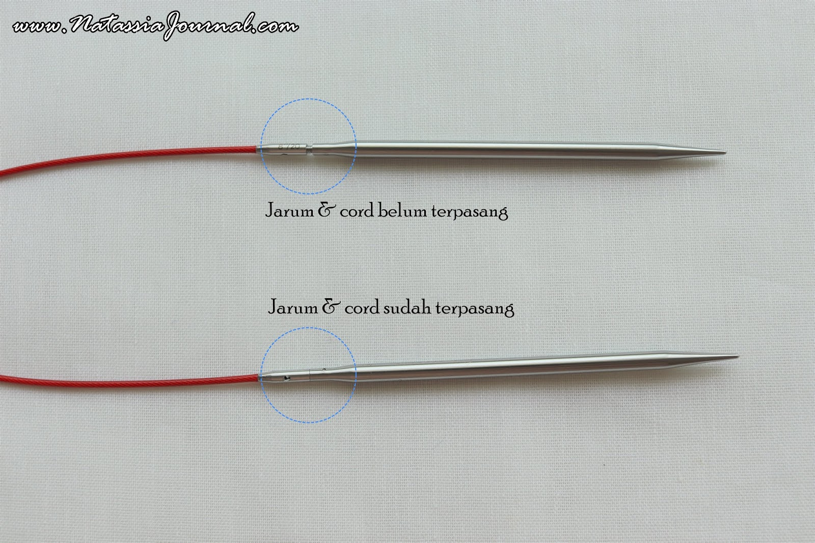 6.50 mm 80 cm :Steel Red LACE Circular Needles: 10.5 US 32 in ChiaoGoo