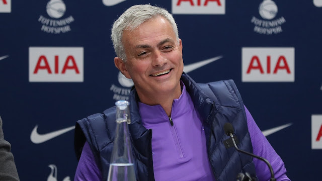 Jose Mourinho all laughs during his first press conference as Tottenham Hotspur manager
