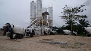 batching plant dan mobil readymix berkah baja beton