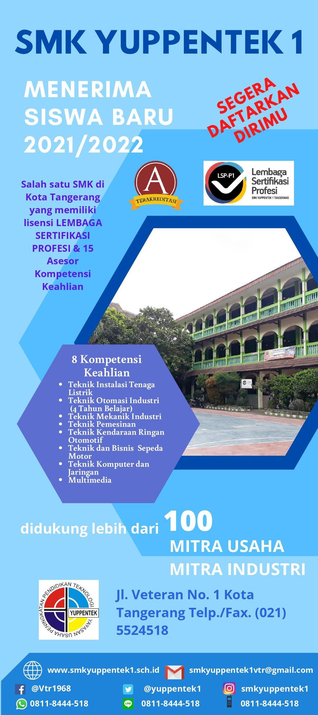 Brosur SMK Yuppentek 1 Tangerang