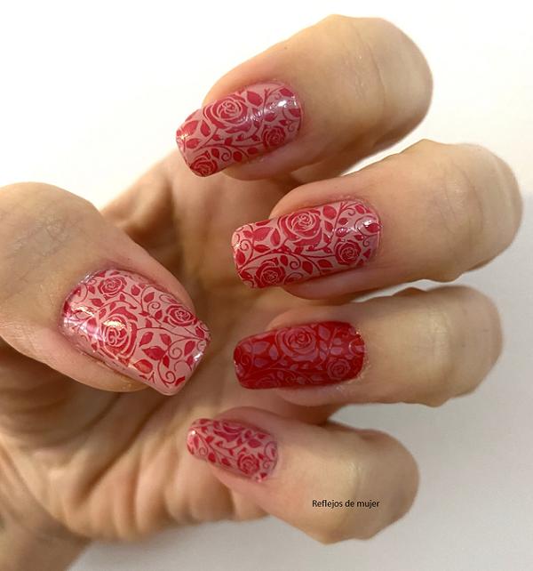 Manicura rosas para el #retolove21
