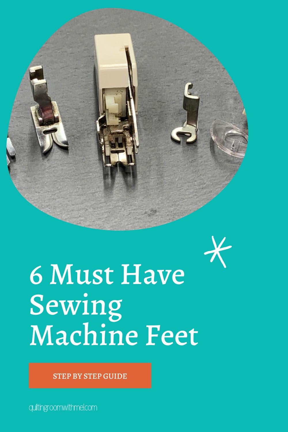 Find out what six sewing machine feet you need for #quilting