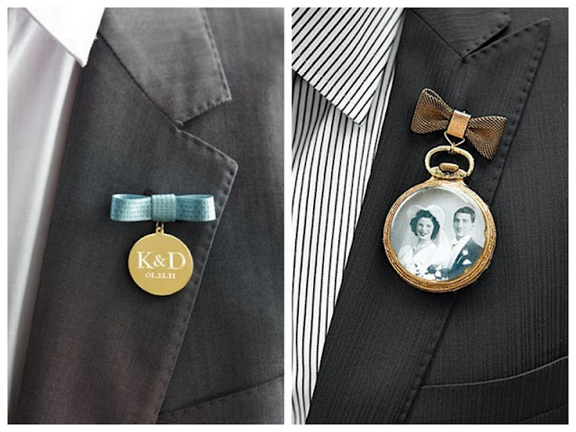 use or create a family heirloom with your groom's boutonniere